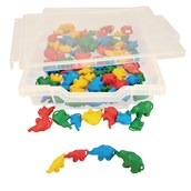 Linking Elephants - 4 Colours - Pack of 80