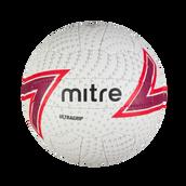 Mitre Ultragrip Match Netball - White - Size 4