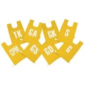 High 5 Bib Set - Yellow - 8-14 Years - Pack of 8
