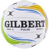 Gilbert Pulse Match Netball - White - Size 4