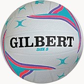 Gilbert APT Training Netball - White/Purple - Size 5