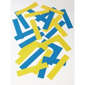 Throw Down Line and Corner Set - Blue/Yellow - Pack of 24