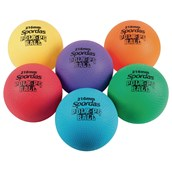 Spordas Poly PG Ball Set - Assorted - 216mm - Pack of 6