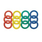 Rubber Quoits - Assorted - Pack of 12