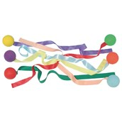 Ribbon Tail Balls - Assorted - Pack of 6