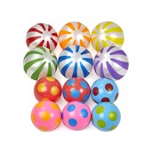 Spots and Stripes Balls - Multi - Pack of 12
