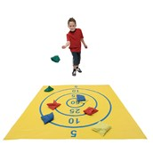 Target Mat and Beanbag Set - Yellow/Mutli