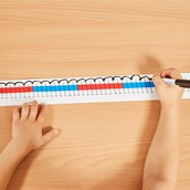 Table Top Number Lines - 0 to 100 - Pack of 5