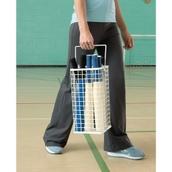 Rounders Bat Basket - White
