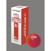 Dunlop Fun Mini Squash Ball - Red - Pack of 3