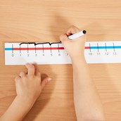 Table Top Number Lines - 0 to 20 - Pack of 10
