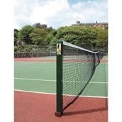 Harrod Sport Hard/Grass Tennis Court Post - Square - Green - Pair