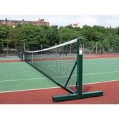 Harrod Sport Freestanding Tennis Post - Green - Pair