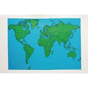 Playcloth Outline Map - The World