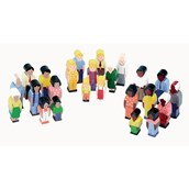 Sri Toys Wooden Families of the World Play Set