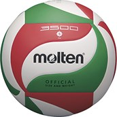 Molten V5M3500 Volleyball - White/Green/Red - Size 5