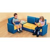 PVC Seat Reading Corner - Red/Yellow