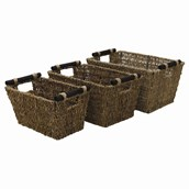 Seagrass Baskets - pack of 3
