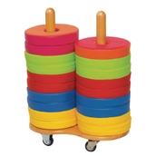 Bi-Colour Donuts - 24 Bi-Colour Cushions with Trolley