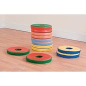 Bi-Colour Donut Cushions - Set of 12 - pack of 12