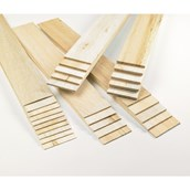 Pack of Assorted Thick and Thin Balsa Pieces