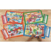 """Multiphonics® CVC Word Building Mats - Set 1 """"In the Home"""""""