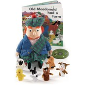 Old McDonald Puppet, Book and CD Set