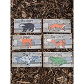 Outdoor Whose Tracks? Which Animal? Signs - pack of 6
