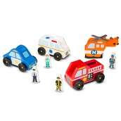 Melissa and Doug Emergency Vehicles - Pack of 4