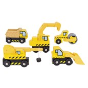 Bigjigs Toys Site Vehicles - Pack of 5