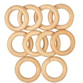 Wooden Sensory Rings from Hope Education - pack of 10