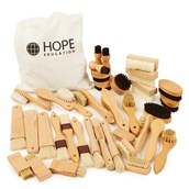 Assorted Wooden Brushes from Hope Education - Pack of 36
