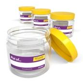 Round Classroom Storage Jar 1000ml - pack of 4