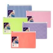 Snopake EPPE Mesh Zippa-Bags Assorted A5 - pack of 5