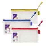 Snopake EVA Mesh Zippa-Bags Assorted Pencil Case - pack of 3