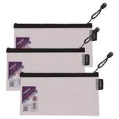 Snopake EVA Mesh Zippa-Bags Black Pencil Case - pack of 3