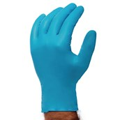 Large Blue Powder Free Disposable Gloves - Pack of 100