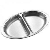 Stainless Steel Divided Serving Dish - 20cm