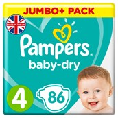 Pampers Baby Dry Size 4 86 Pack