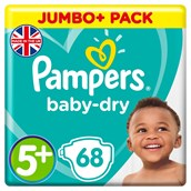Pampers Baby Dry Size 5+ 68 Pack