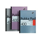 Pukka Pad Metallic Refill Pads - A4 - 400 pages - 8mm Lined, Margin, 4 Hole