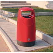 100L Red Consort Litter Bin