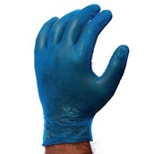 Large Blue Powdered Disposable Gloves - Pack of 100
