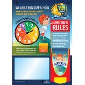 SCJ Sun Protect Skin Safety Centre Board