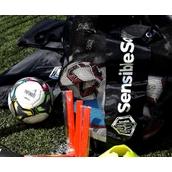 Sensible Soccer 10 Ball Sack - Black/White