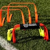 Sensible Soccer Flat Hurdles - Pack of 9