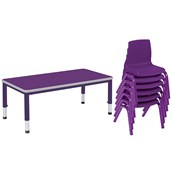 Harlequin Large Rectangular Table and 6 Chairs Bundle