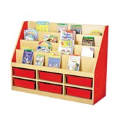 6 Small Tray Book Storage Unit