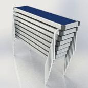 Rectangular Fast Fold Benches