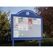 Weathershield Freestanding Contour Signage With Sunken Posts Landscape